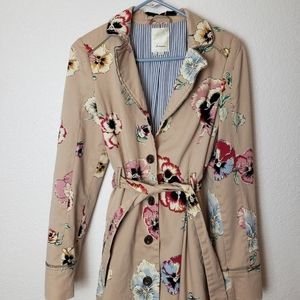 Anthropologie Elevenses trench coat